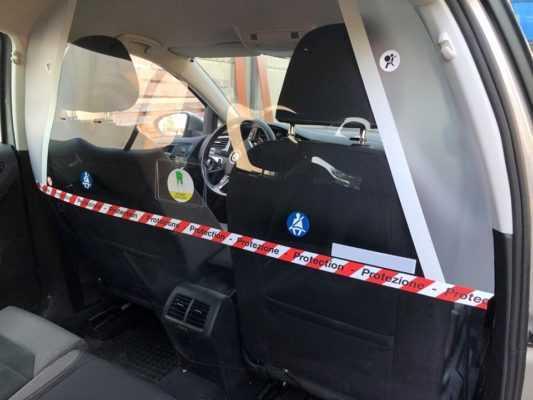 dispositivi protezione taxi